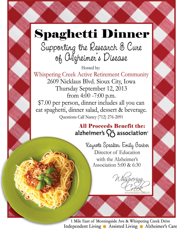 spaghetti dinner fundraiser flyer template – Fundraiser Flyer Template